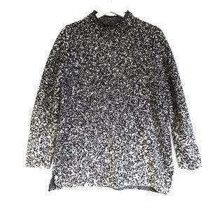 Pure J. Jill cotton blend moc neck sweater, Size M